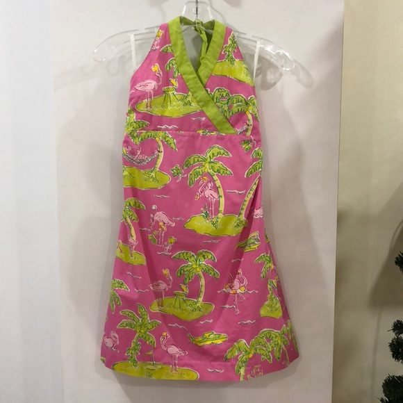 Lilly Pulitzer Other - Lilly Pulitzer flamingo palm tree dress size 14